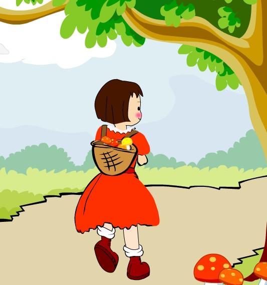 生产队里养了一群小鸭子_小鸭子_采蘑菇的小姑娘